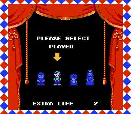 Nej, Luigi är inte karaktären vi spelar med.