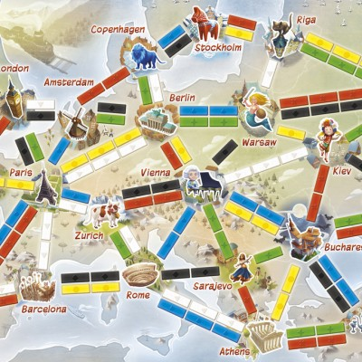 Ticket to Ride First Journey Game Board